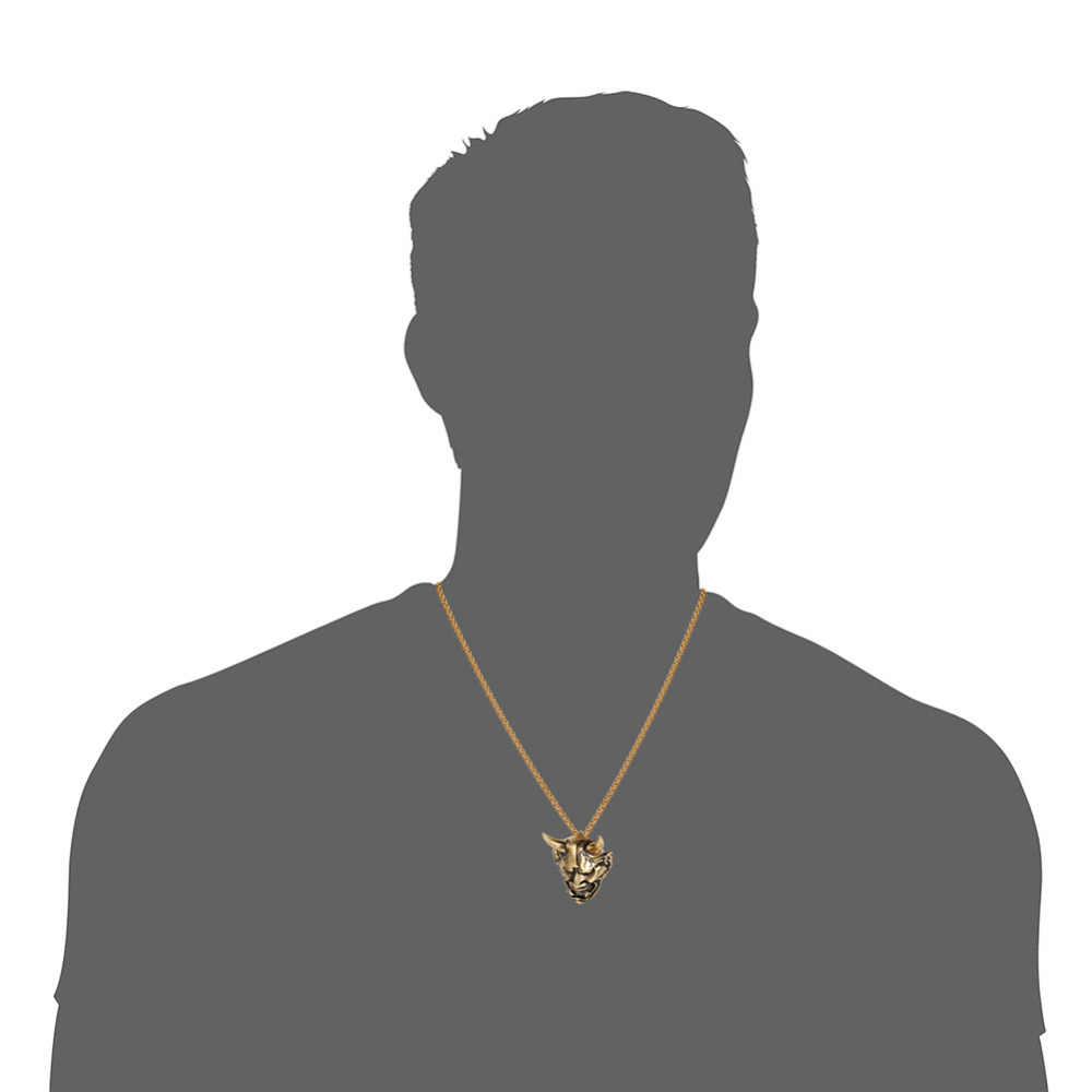 Kpop злой Дьявол демон Рог череп кулон ожерелье s золото серебро черный цвет Регулируемая цепочка Ожерелье Панк ювелирные изделия для мужчин GP338