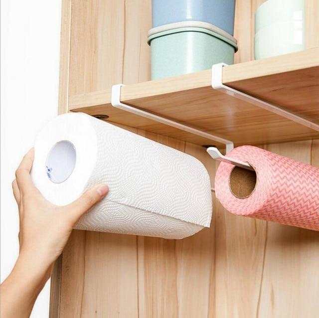 DINIWELL Kitchen Storage Organization Useful Cupboard Hanging Cabinet Toilet Paper Towel Rack Shelf Paper Roll Holder Organizer