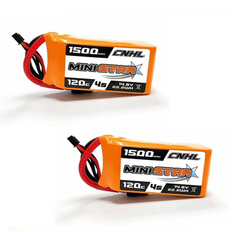 1 / 2 /3 PCS CNHL MiniStar 14.8V 1500mAh 4S 120C Lipo Battery Rechargeable XT60 Plug For RC Drone Models FPV Racing Part Accs