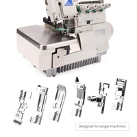 6pcs Over lock Feet Set Professional Overlock Machine Presser Foot Kit for Singer Brother Sewing Accessories Presser Foot