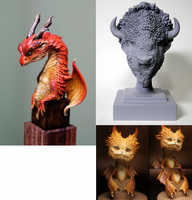 Assembly Unpainted Scale 1/10 dragon (youth) include 3 big set figure Historical Resin Model Miniature Kit