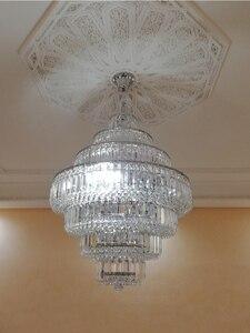 Image 5 - Lámpara de araña de cristal francés con diseño de Imperio Dorado, candelabros cromados, modernos, envío gratis