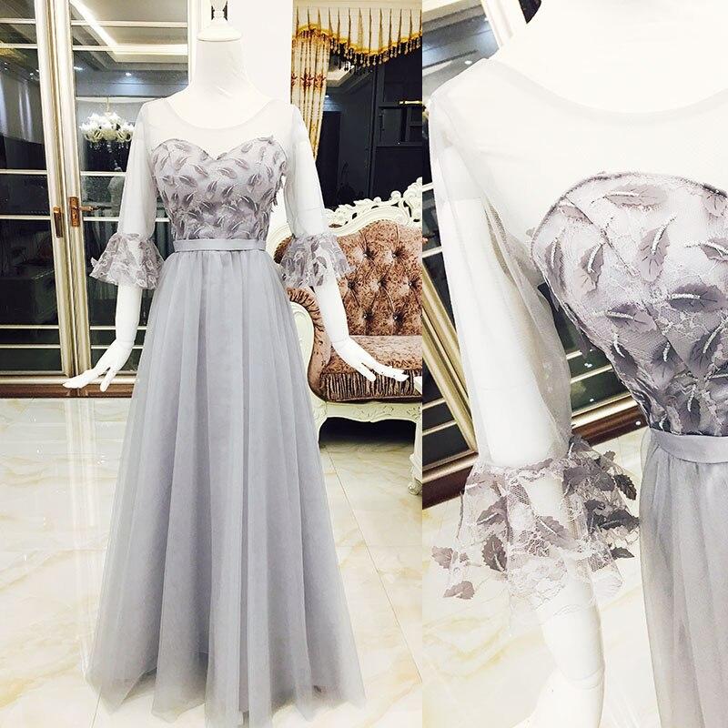 2017 new   Bridesmaid     Dresses   plus size stock cheap under $50 sexy romantic sister simple elegant fashion grey silver long