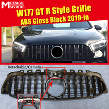 W177 GTS style grille ABS Gloss Black With Camera Front Bumper Mesh For Sports A180  A200 A250 grills Without Emblem 2019+