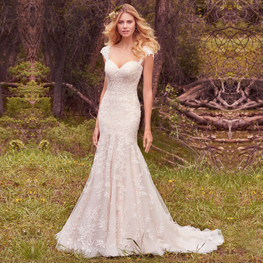 High quality rustic wedding dresses 2017 country style for Vintage mermaid style wedding dresses