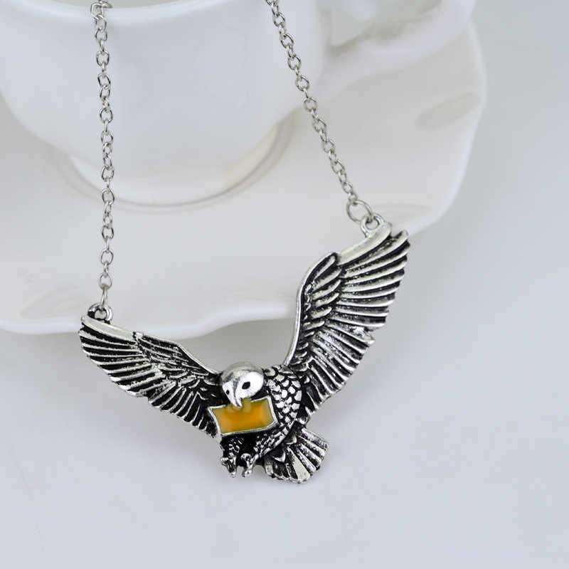 HWetR nuevo pájaro de plata vieja Vintage sobre diadema de corona de águila colgante para hombres y mujeres joyería de alta calidad al por mayor