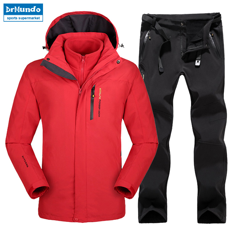 Grande taille hommes Ski Ski-wear imperméable randonnée extérieur veste Snowboard veste Ski costume hommes grande taille vestes de neige - 5