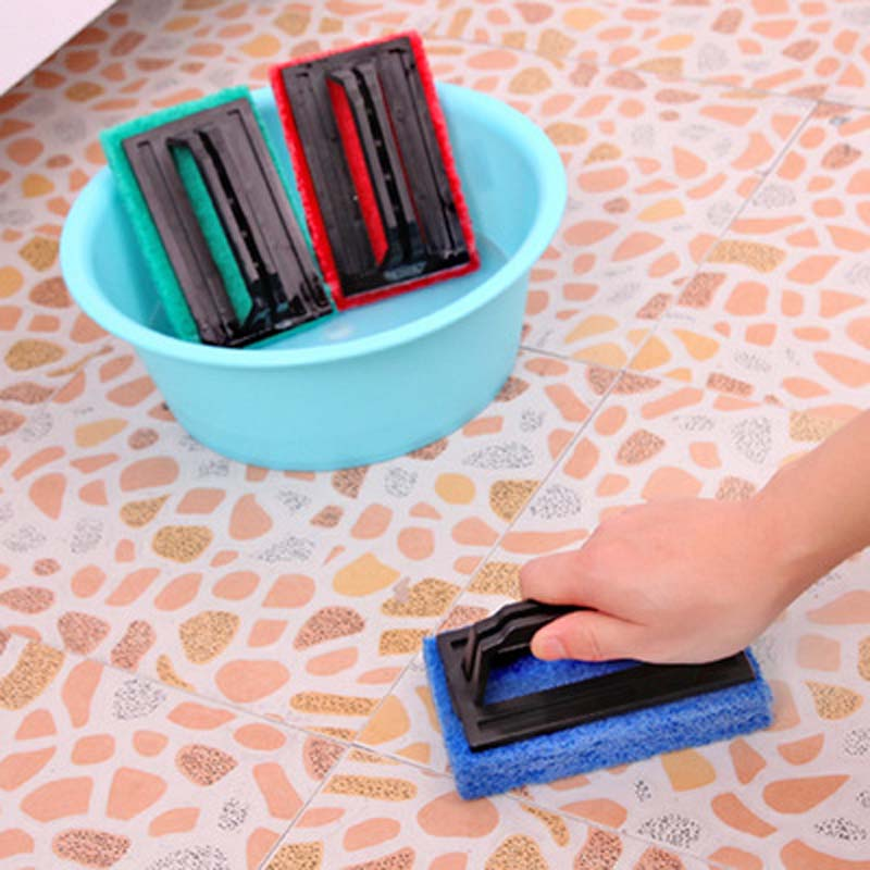Fheal 2pcs Useful Cleaning Brushes Ceramic Tile Cleaner Floor Wiper