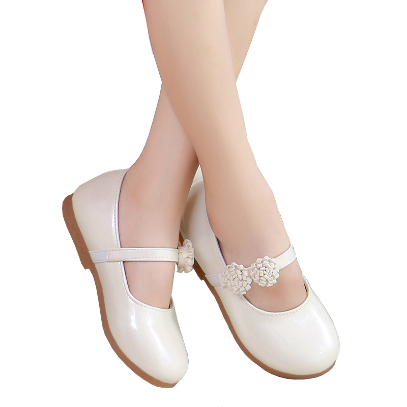 White Flower Children Little Girl Kids Leather Party And Wedding Princess  Shoes For Teens Girls Baby School Dance Shoes New 2018 b455dc9dd3e0