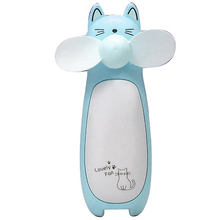 Creative Outdoor Small Fan Mini Cartoon Cat Fan Handheld Portable Charging Fan Led Night Light Small Fan