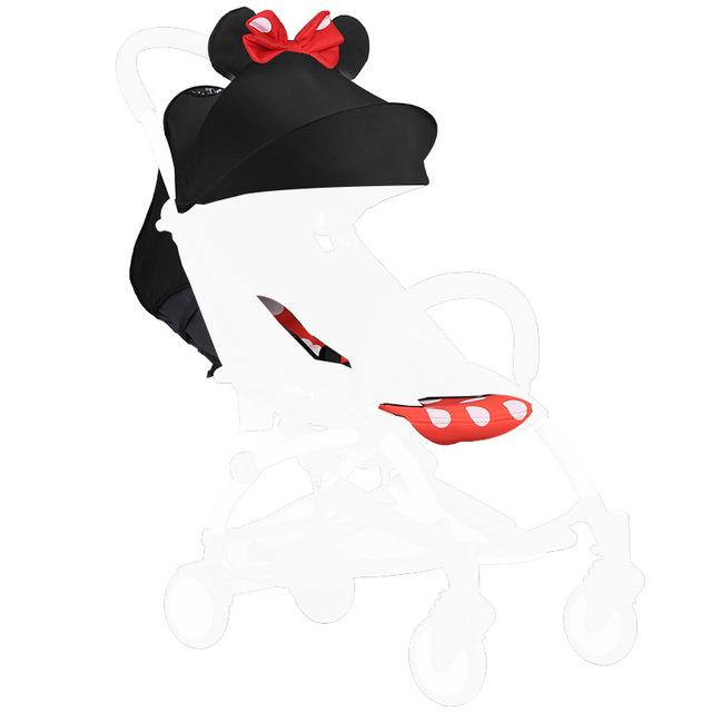 Cubierta y el Colchón de Peso Ligero Cochecito de bebé Cochecito de Bebé Cochecito Intercambio Tixtile Toldo Capota de Tela Lavable Estera