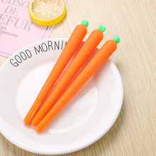 Carrot gel pen Cute 0.5mm black ink Neutral pens office school writing supplies Stationery Promotional gift creative cute cat s paw gel pen kawaii students writing neutral pens caneta office school stationery supplies 0 5mm