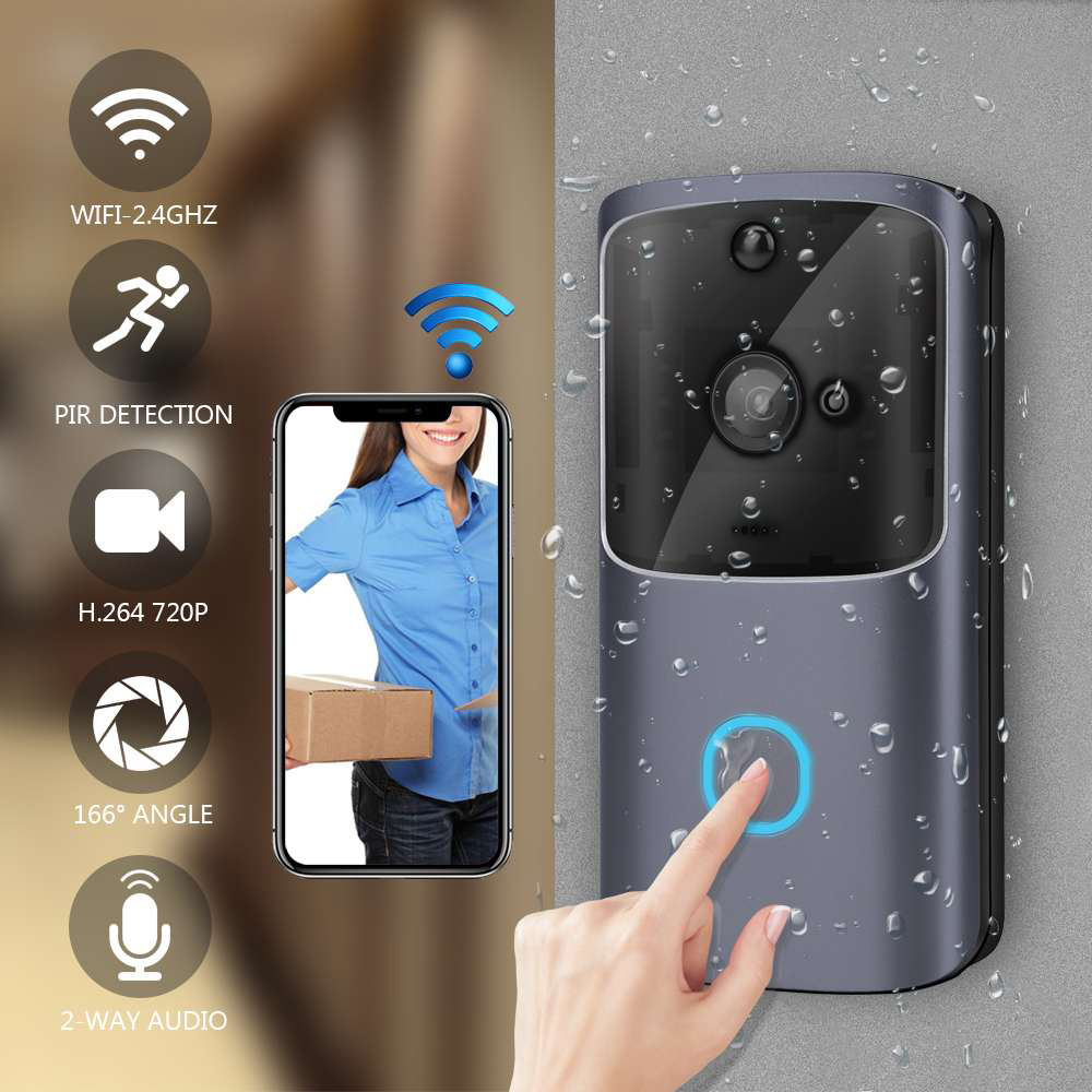 Smart Wifi Doorbell Camera Wireless Video Recorder Intercom Bell HD 720P Door Bell IR Alarm Motion Detected Door Lens Video-eyes