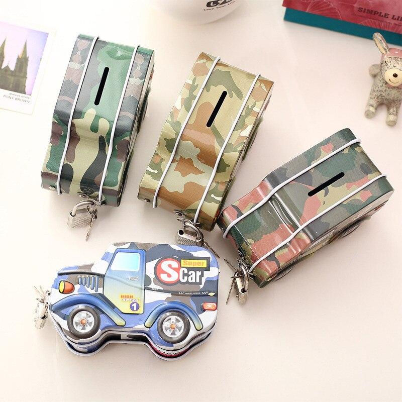 Chic 3D SUV Auto Tank Vormige Kids Pen Zak Rits Potlood Tas Creatieve Schoolbenodigdheden Portemonnee Geval Portemonnee met lock C5
