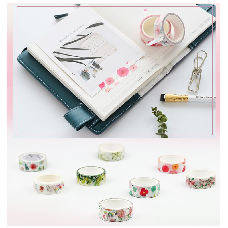 32 Pcs/Lot Floral Masking Tapes Vintage Paper Washi Tapes Stickers Scrapbooking Diary Album Letter Decoration Stationery F016