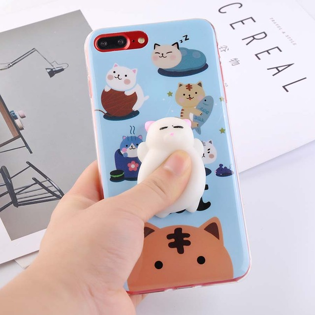 Cute Soft Silicone Squishy Cat Case