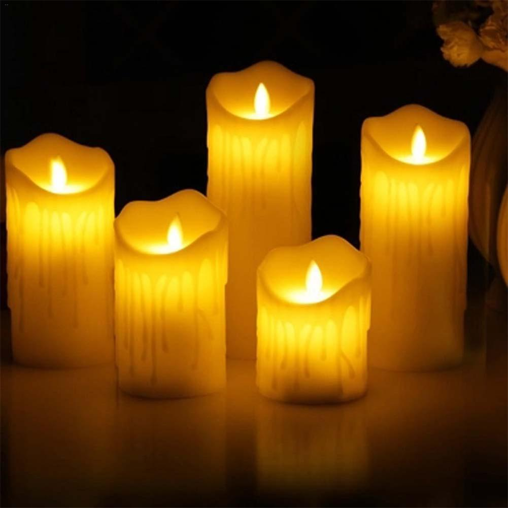 Led Electronic Candle Light Warm Holiday Birthday Decorative Lights Wedding Church Atmosphere Smokeless Flameless Candle