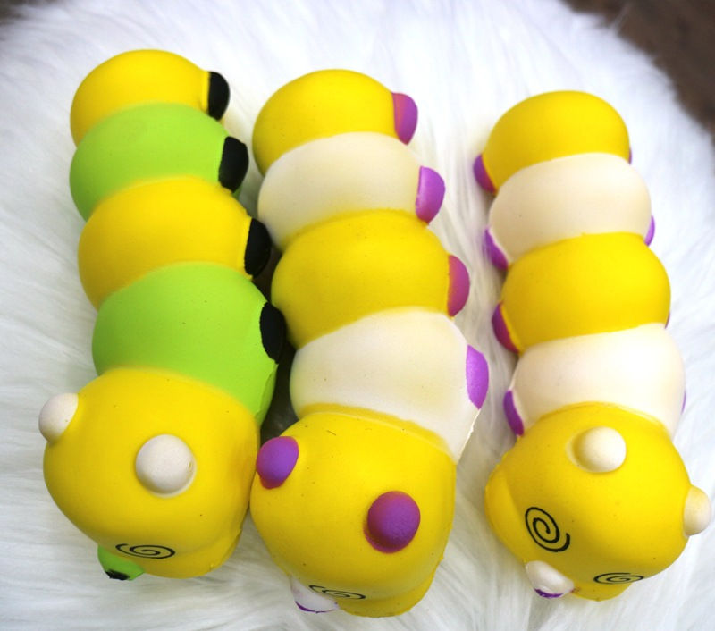 17.5CM Changeable Shape Worm Twist Caterpillar Slow Raising Squishy Toy Kid Colorful Cognition Playmate Fun Educational Gift P10