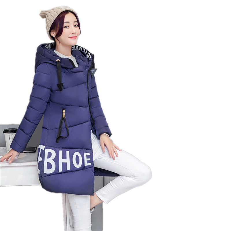 ФОТО M-XXXL Parkas For Girls Winter 2017 Long Sleeve Jacket Women Thick Coat  Pocket Overcoat Hooded Outerwear Zipper Naist  YY64