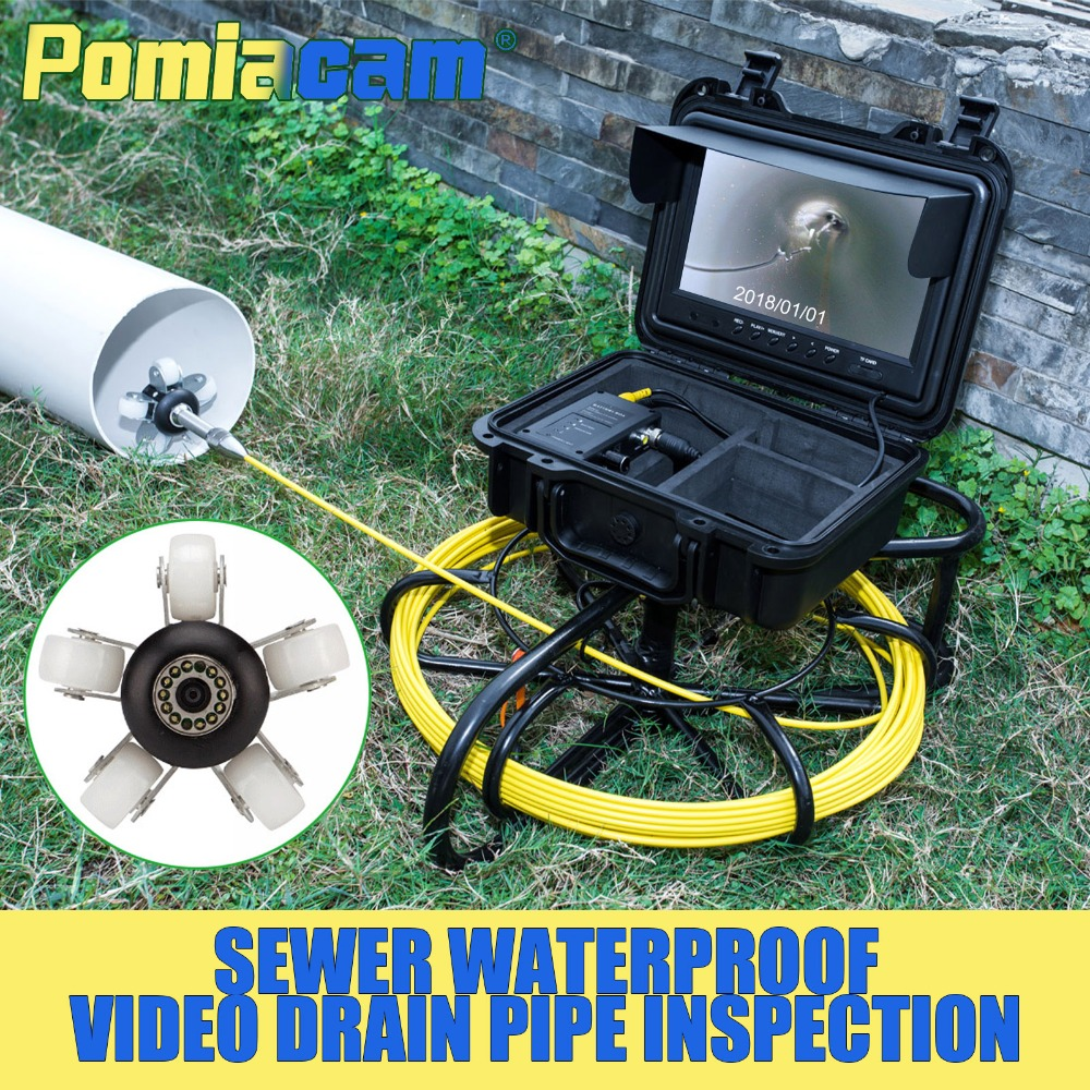 WP9600A 30M PIPE Drain & Sewer Inspection Camera sewer pipe video Inspection Camera Sewer Line Pipe Camera Inspection video wp9600a 50m pipeline drain sewer inspection support video recording 1200tvl camera sewer pipe video inspection camera system