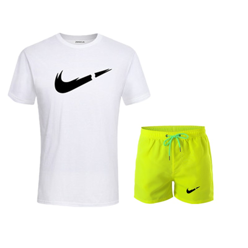 HTB1gQ8uUa6qK1RjSZFmq6x0PFXae 2019 New Men Fashion Two Pieces Sets T Shirts+Shorts Suit Men Summer Tops Tees Fashion Tshirt High Quality men clothing