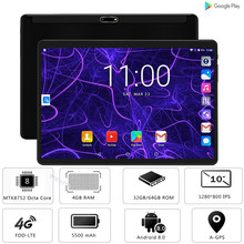 Google Android 8,0 Octa Core 10 pulgadas Tablet 4GB RAM 64GB ROM 2.5D de cristal 1280X800 IPS WIFI GPS de Netflix, Youtube tabletas Pad(China)
