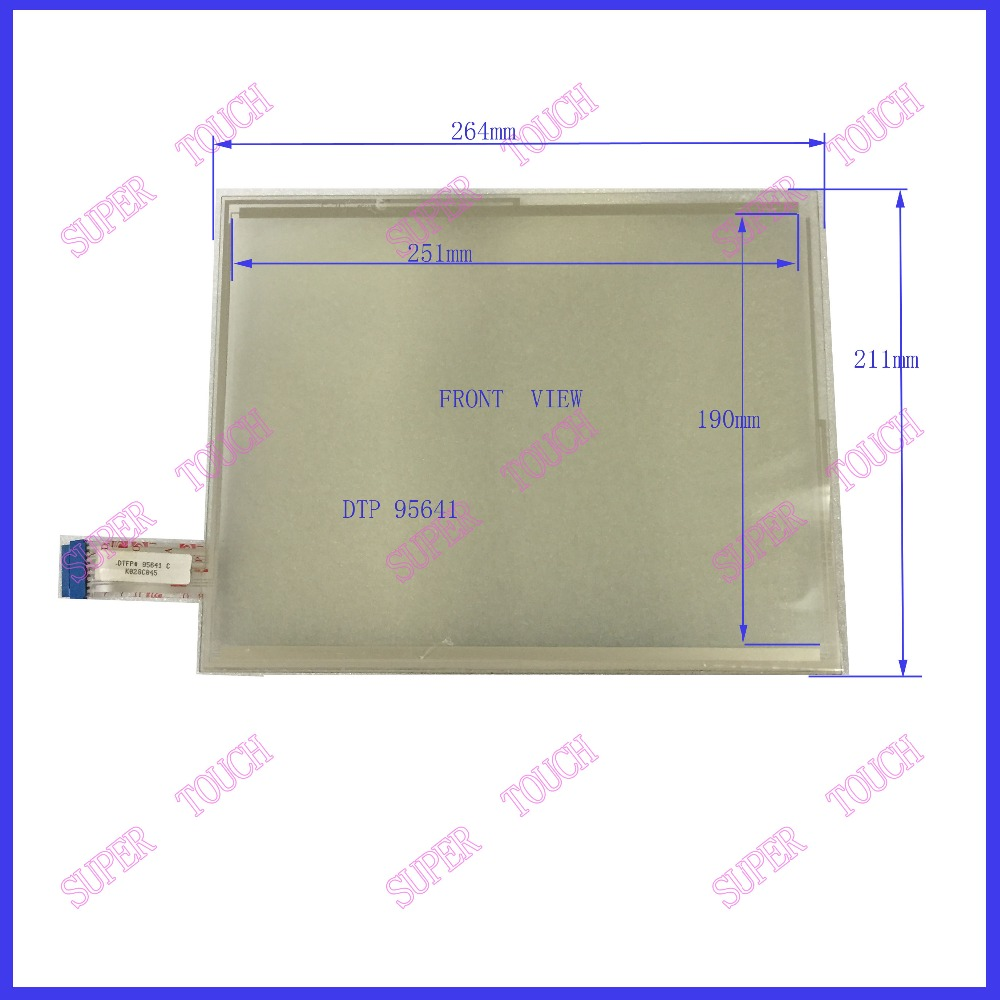 NEW 12.1 inch 8 wire resistive Touch Screen 264*211 for industry applications DTFP 95641 K28C045