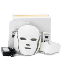 Hot LED 7 Colors Light Microcurrent Facial Mask Machine Photon Therapy Skin Rejuvenation Facial Neck Mask