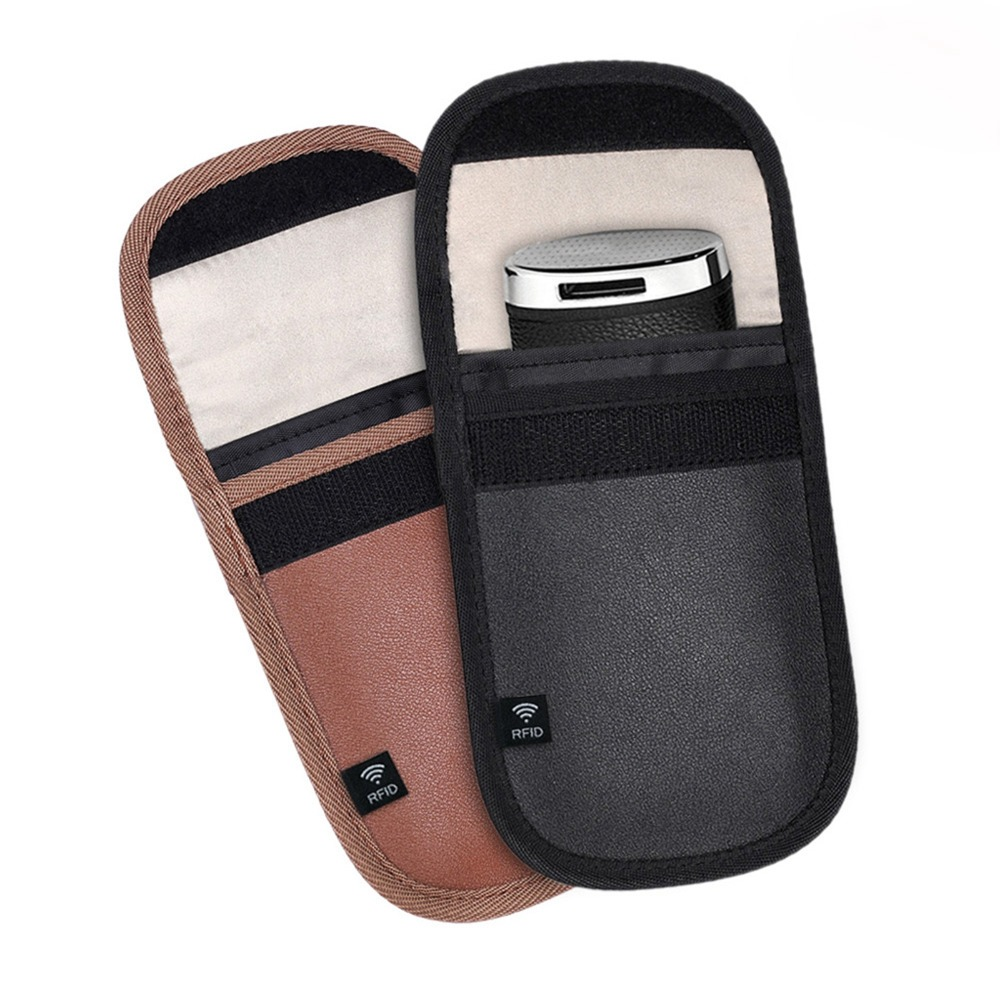 2Pc Anti-theft Car key Bag Car Fob Signal Blocker Faraday Bag Signal Blocking Bag Shielding Pouch Wallet Case Privacy Protection