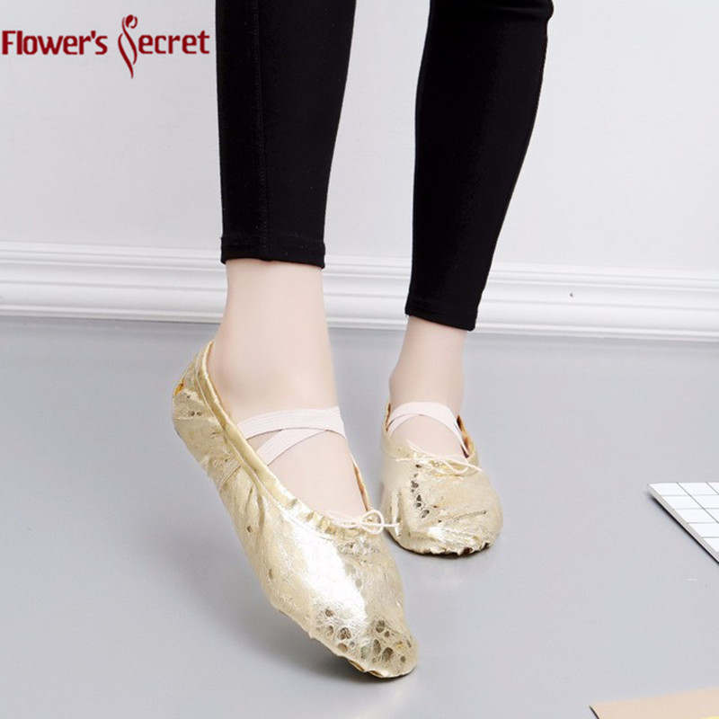 Child And Adult Ballet Point Shoes Womens Professional Ballet Dance Shoes Soft Sole Belly Dance Shoes PU Ballet Dance Shoes