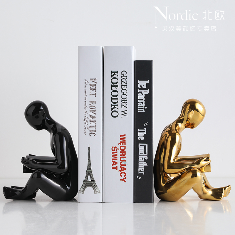New Nordic Creative Modern Book Board Block Art Ceramic Book Clip Study Office Desktop Murals Home Decoration Crafts AccessoriesNew Nordic Creative Modern Book Board Block Art Ceramic Book Clip Study Office Desktop Murals Home Decoration Crafts Accessories