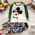 Free shipipng 2017 spring autumn  children's clothing cotton long sleeved suit for baby boys, 2pcs sets