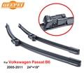 "Qeepei 24 ""+ 19"" limpiaparabrisas cuchillas para volkswagen passat b6 2005-2011 coche accesorios para auto limpiaparabrisas cpc106"