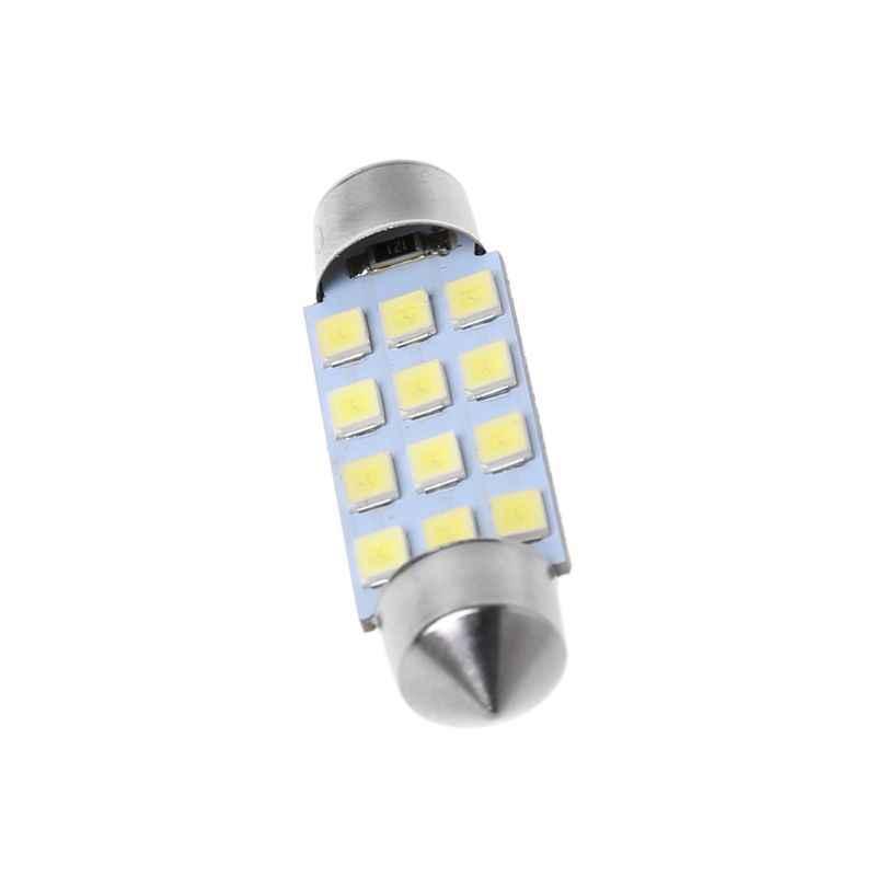 41 مللي متر فستون قبة 12-LED مصلحة الارصاد الجوية 1206 لمبة إضاءة مصباح سيارة الداخلية الأبيض Jy22 19 دروبشيب