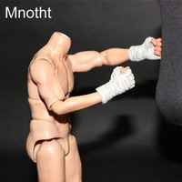 Mnotht Generic White 1/6 Boxer Gloves Model For 1:6 Scale Solider Toys Sences l30