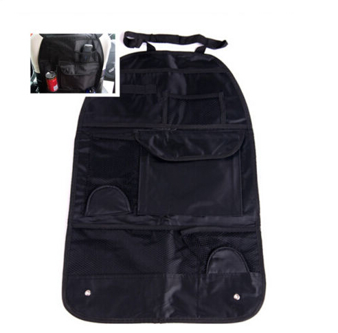 Car SUV Chair Seat Cover Convenient Bag Tidy Storage Pocket Black Seat Back Holder
