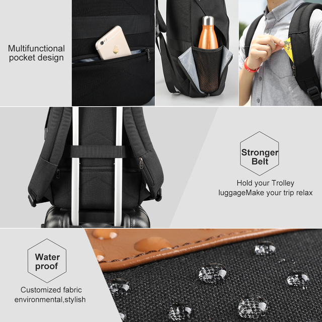 Tigernu Anti theft NO Key TSA lcok Backpack Men's Backpacks for 15.6″ Laptop Women Notebook Mochila school backpack for teenager