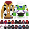 3D Printing Kids Anime Costume Toy Story Cosplay Superhero Iron Man Hoodies Boy Girl Buzz Light Year Woody Spider Man Sweatshirt