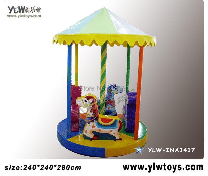 Aire de jeux pour enfants centre de jeu, carrousel électrique pour enfants aire de jeux cheval souple pivotant YLW-INA1417