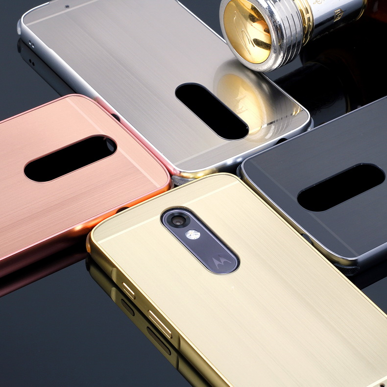 size 40 4bf48 c2946 US $7.99 |Luxury Brushed Case For Motorola Moto X Force / Droid Turbo 2 PC  Mirror Back Cover & Plating Metal Frame Set Phone Coque Fundas-in Fitted ...