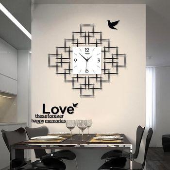 Quartz Clocks Fashion Watches 3D Big Wall Clock With Wall Stickers & Photo Frame Creative Living Room Decor Modern Clocks Wall