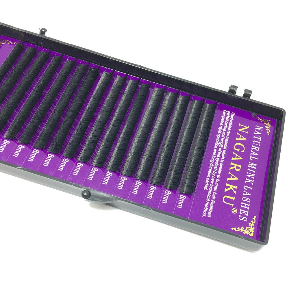 0ade05949d3 NAGARAKU 6 cases set 16rows/tray high quality mink eyelash extension  individual eyelashes fake eyelash natural eyelashes cilia -in False  Eyelashes from ...