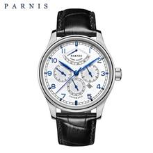 цена Luxury Brand Men's Watch Automatic Parnis 42mm Date/24 hour/Power Reserve/Moon Phase Auto Mechanical Watches Wrist Watch Relojio онлайн в 2017 году