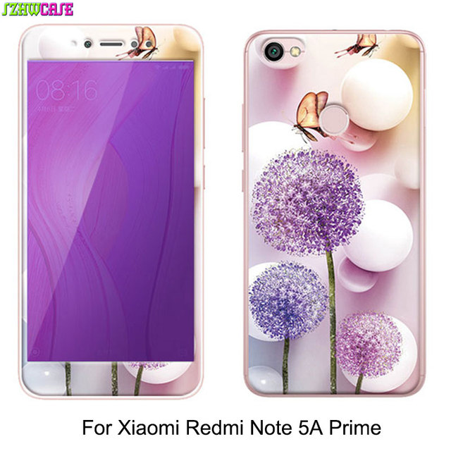 official photos db807 1db8f US $3.68 11% OFF|Cartoon Soft TPU Back Cover For Xiaomi Redmi Note 5A Prime  Case Soft Edge Purple Light Tempered Glass Film For Redmi Y1 Cover-in ...