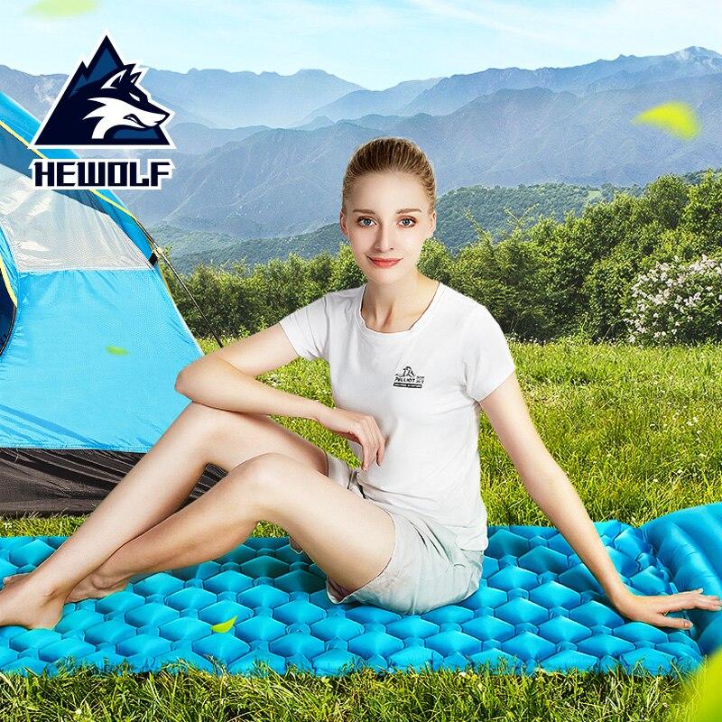 Hewolf matelas Camping tapis ultraléger Portable matelas imperméable résistant à l'humidité voyage Air matelas extérieur Camping pêche plage