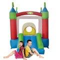 Yard mini bonito casa bounce slide uso doméstico seguranças inflável para crianças festas de aniversário oferta especial para a zona quente