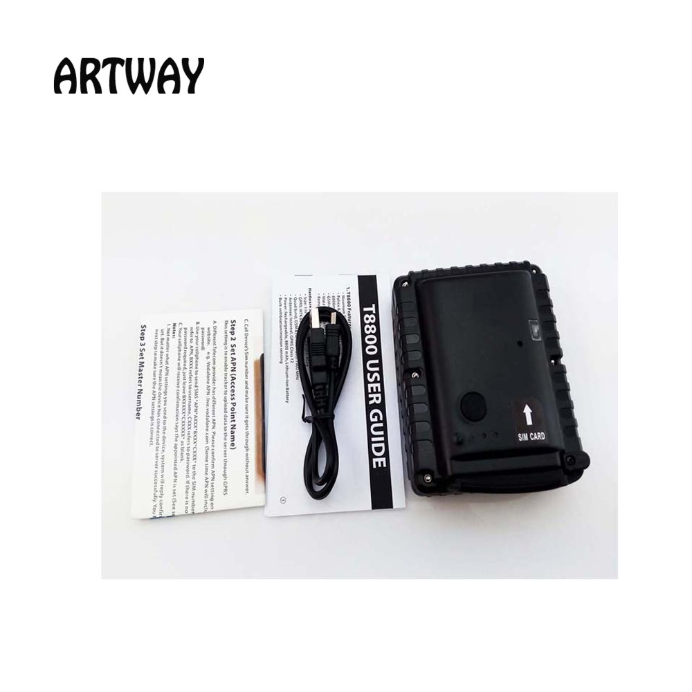 ФОТО Big Battery 10400mAh Power Bank GPS Tracker T8800SE GSM SMS Alarm GPRS real-time tracking for assets and monitor vehicle rental