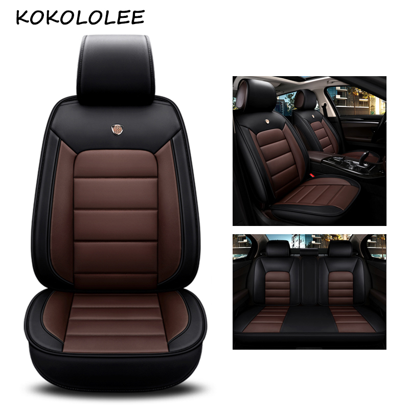 kokololee pu leather car seat cover For peugeot 301 207 408 volvo v40 v70 toyota avensis renault car styling auto accessories carpass pu leather black color 11 pieces universal car seat cover for ford bmw toyoto nissan golf peugeot renault mazda volvo