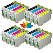 16 шт. T0735 XL совместимый чернильный картридж для EPSON Stylus C79/C90/C92/C110 CX3900/CX4900/CX4905/CX5600 принтера