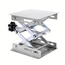 цены Laboratory Lifting Platform Stand Rack Scissor Jack Bench Lifter Table Lab 100x100mm Stainless Steel For Scientific Experiment